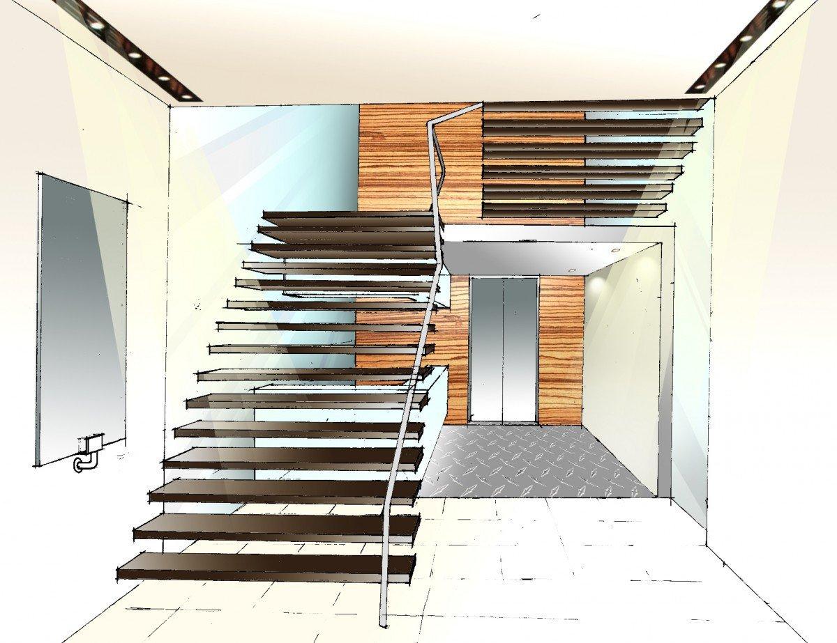 14 Wang Tai Road Remodelling staircase drawing